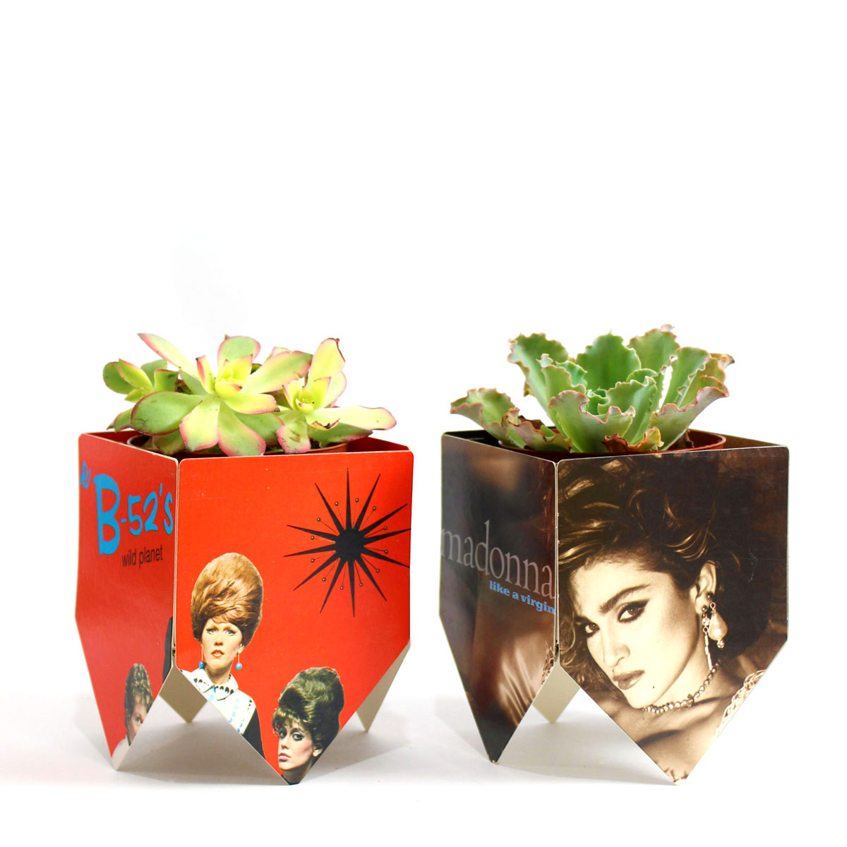 Record album cover plant stands jonathan fong style i love succulents and somehow regular terra cotta pots dont do them justice so i decided to make plant stands for the succulents using album covers mightylinksfo